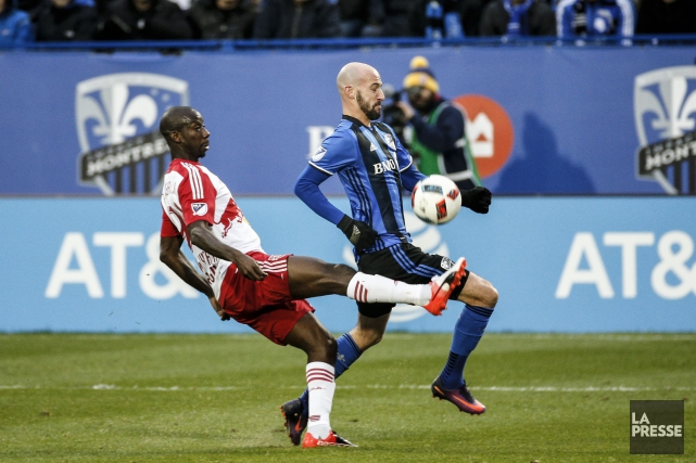 L'attaquant des Red Bulls Bradley Wright-Phillips et le... (Photo Olivier PontBriand, archives La Presse)