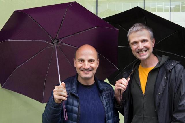 Pierre Mifsud et François Gremaud, créateurs du spectacleConférence... (Photo Robert Skinner, La Presse)