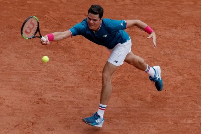 Milos Raonic a accédé au quatrième tour à... (Photo Gonzalo Fuentes, Reuters)