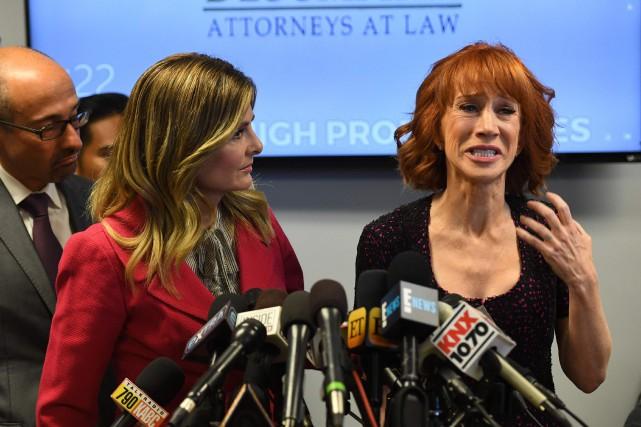Kathy Griffin était en sanglots en conférence de... (PHOTO Mark RALSTON, AFP)