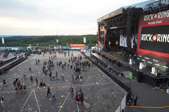 Le festival Rock am Ring a été évacué,... (PHOTO Thomas Frey, AFP)