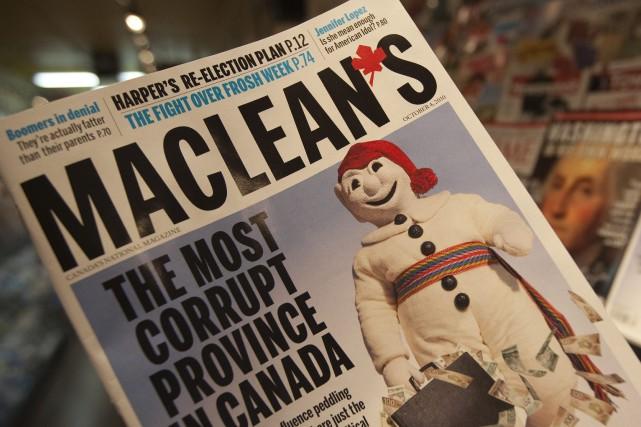En 2010, la une du magazine présentait une... (Archives La Presse Canadienne)