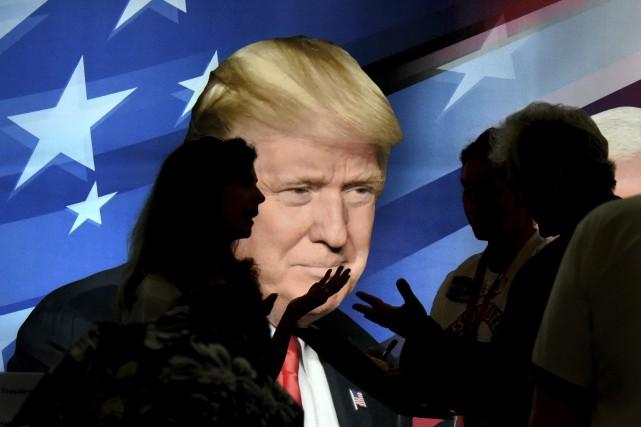 Le 45eprésident des États-Unis, Donald Trump, croit-il au... (Photo Michael Holahan, AP)
