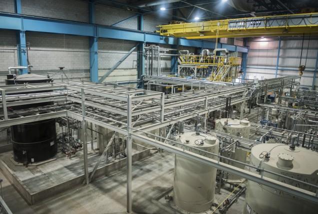 L'usine de Nemaska Lithium... (François Gervais)