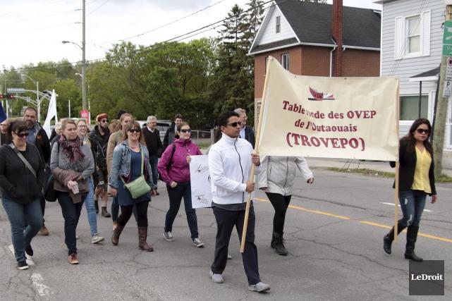 Une marche a eu lieu vendredi matin, dans... (Étienne Ranger, Le Droit)