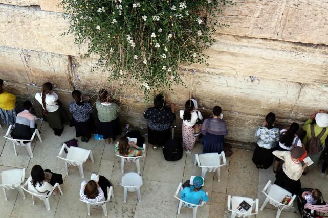 Le mur des Lamentations se trouve à Jérusalem-Est,... (Photo THOMAS COEX, AFP)