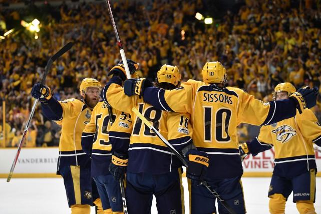 Victoire des Predators.... (Photo Christopher Hanewinckel, USA TODAY Sports)
