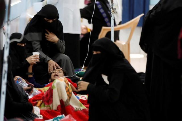 Près de 150 000 nouveaux cas de choléra... (PHOTO Khaled Abdullah, Reuters)