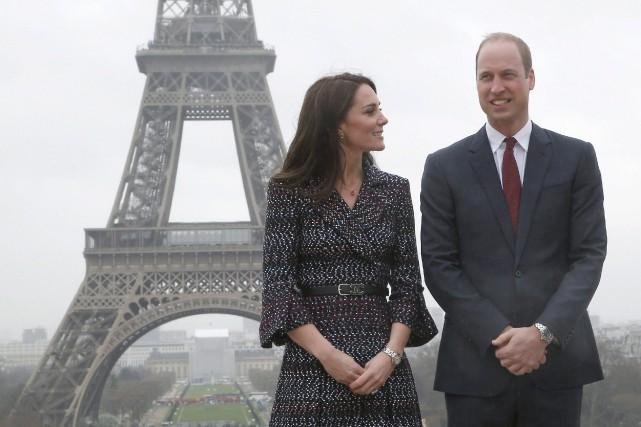 Kate et William lors d'un passage à Paris... (AP, Michel Euler)