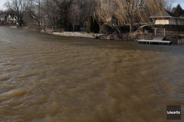 Une portion de la rivière Yamaska, à Granby... (Catherine Trudeau, archives La Voix de l'Est)