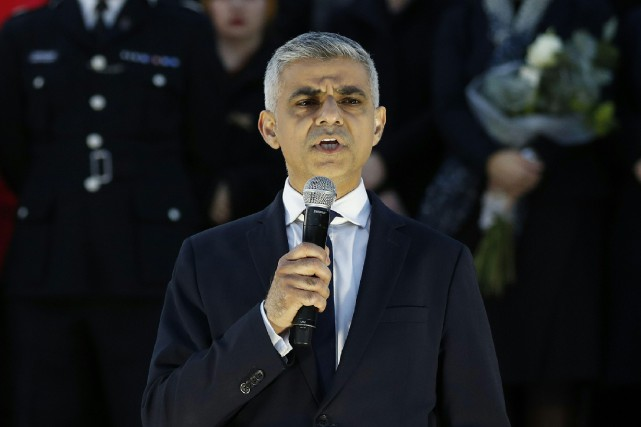 Le maire de Londres, Sadiq Khan.... (PHOTO AFP)