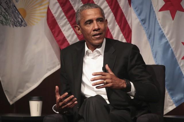 Mardi, l'ex-président américain Barack Obama sera l'invité de... (AFP, Scott Olson)