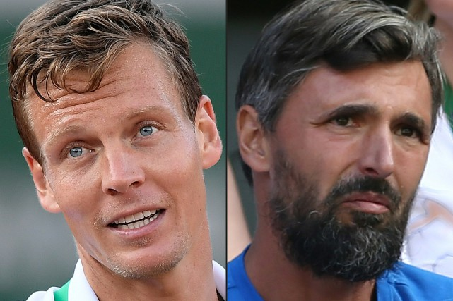 Tomas Berdych et Goran Ivanisevic... (PHOTO ARCHIVES AGENCE FRANCE-PRESSE)
