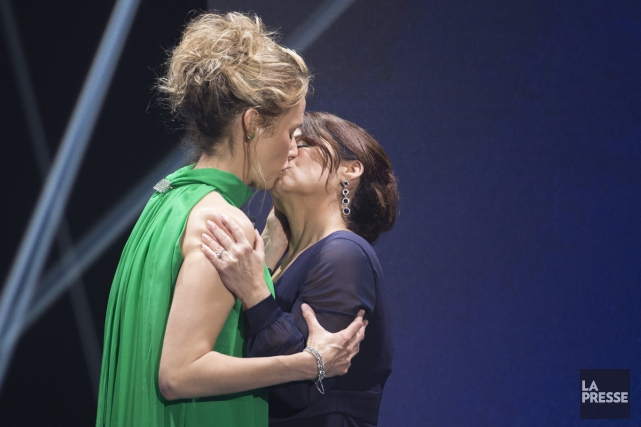 Les comédiennes Édith Cochrane et Guylaine Tremblay ont... (PHOTO OLIVIER JEAN, LA PRESSE)