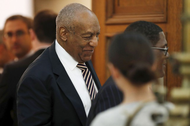 Bill Cosby leaves the courtroom during a break... (David Maialetti, The Philadelphia Inquirer via Associated Press)