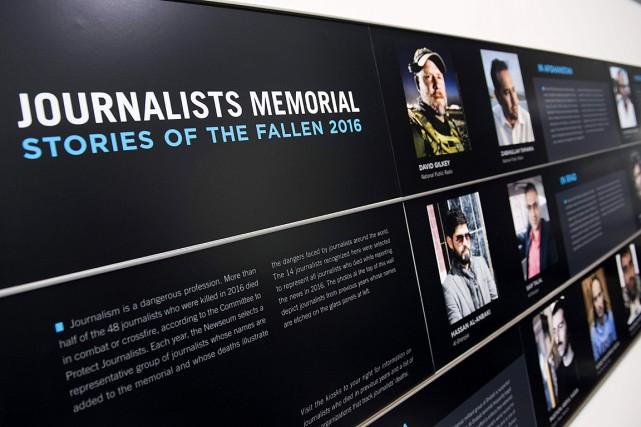 Les histoires de 14journalistes ont été inscrites au... (Photo SAUL LOEB, AGENCE FRANCE-PRESSE)