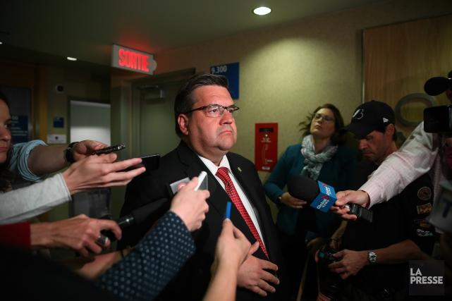Le maire de Montréal, Denis Coderre, répond aux... (La Presse, Martin Chamberland)