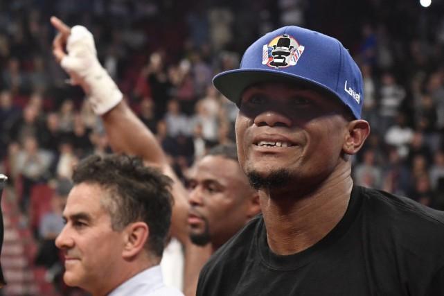 Elieder Alvarez (devant) a remporté son combat contre... (La Presse, Bernard Brault)