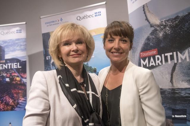 La ministre du Tourisme, Julie Boulet, et la... (Stéphane Lessard, Le Nouvelliste)