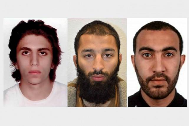 Youssef Zaghba, Khuram Shazad Butt et Rachid Redouane... (AFP)