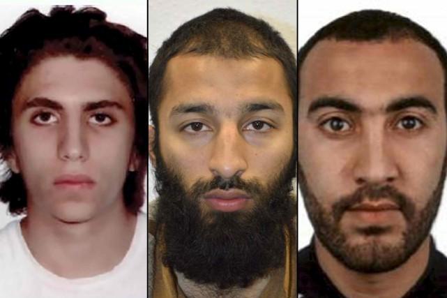 Les trois suspects de l'attentat du week-end dernier... (AFP)