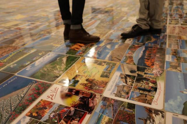 Le plancher d'une des pièces de l'exposition de... (PhotoYves Schaëffner, collaboration spéciale)
