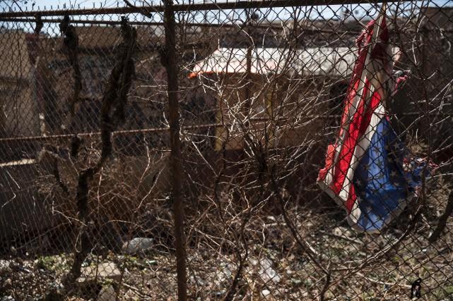 Sur la photo, un quartier ravagé par l'héroïne... (PHOTO DOMINICK REUTER, ARCHIVES AFP)