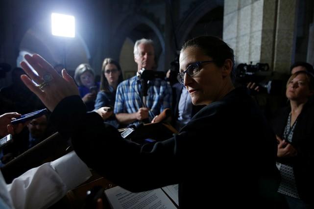 La ministre des Affaires étrangères, Chrystia Freeland.... (Chris Wattie, archives REUTERS)
