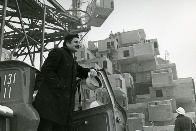 Moshe Safdie sur le chantier d'Habitat 67, en... (Photo fournie par la collection de Safdie Architects)