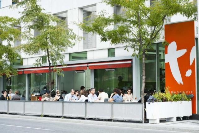 La terrasse de la Brasserie T!... (Photo tirée du site du restaurant)