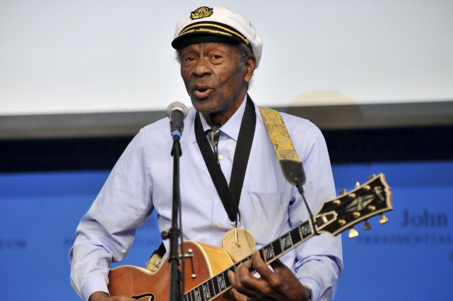 Chuck Berry, ici en 2012, est décédé le... (AP, Josh Reynolds)
