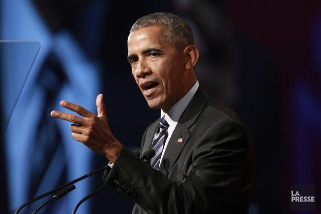 Barack Obama a livré une allocution d'une trentaine... (La Presse, André Pichette)
