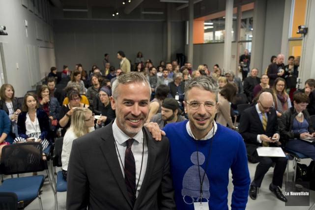 L'animateur Matthieu Dugal, à droite, revenait pour une... (Sylvain Mayer, Le Nouvelliste)
