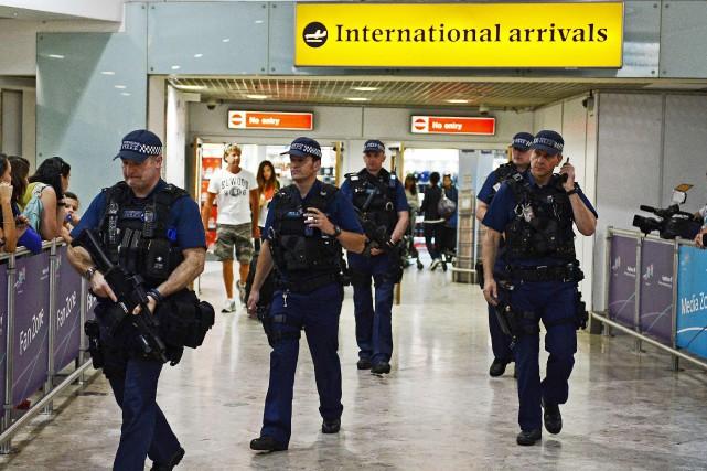 Heathrow est le plus important aéroport d'Europe.... (ARCHIVES AFP)