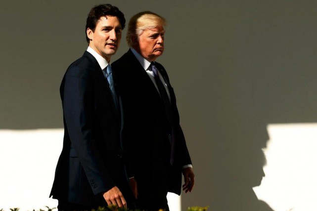 Le premier ministre du Canada Justin Trudeau et... (ARCHIVES REUTERS)
