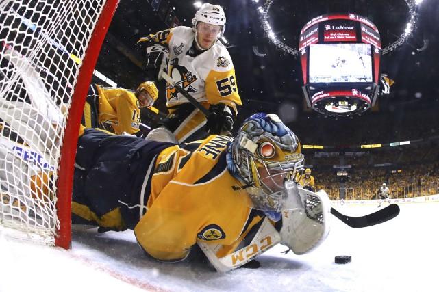 Sans le brio du gardien des Predators Pekka... (AFP, Bruce Bennett)