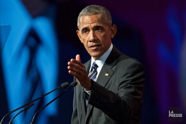 L'ancien président des États-Unis Barack Obama.... (Photo La Presse)