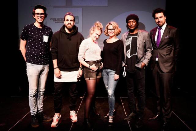Jérémie Larouche, Jay Du Temple, Rosalie Vaillancourt, Annie... (Photo Bernard Brault, La Presse)