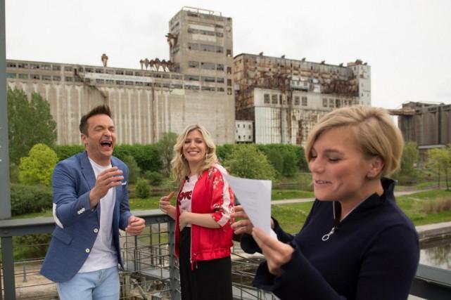 Les animateurs Mario Tessier (à gauche) et Anne-Marie... (Photo Catherine Lefebvre, collaboration spéciale)