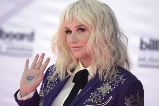 La chanteuse Kesha en mai 2016, sur le... (PHOTO Richard Shotwell, archives AP)