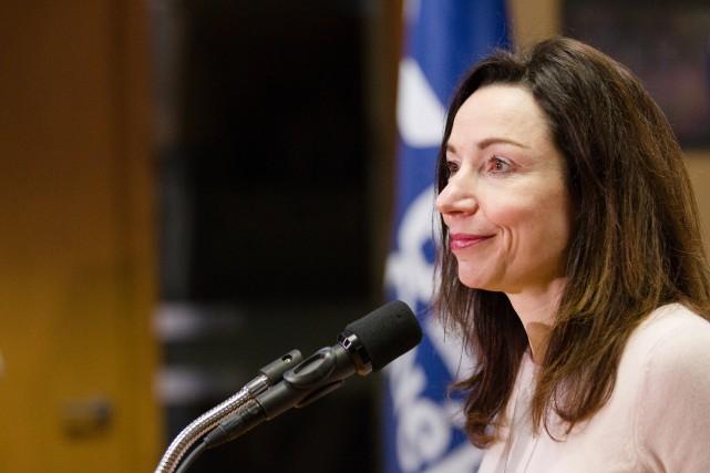 La chef du Bloc québécois, Martine Ouellet.... (Archives La Presse, NINON PEDNAULT)