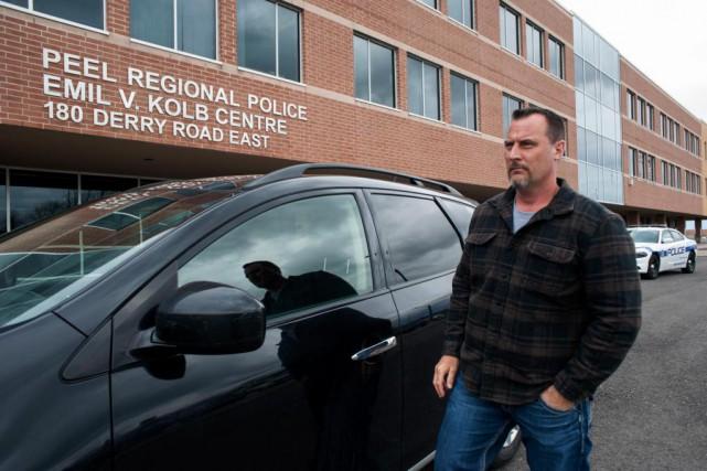 L'enquêteur Wayne Parkins, de la police régionale de... (PhotoLaurence Butet-Roch, collaboration spéciale)