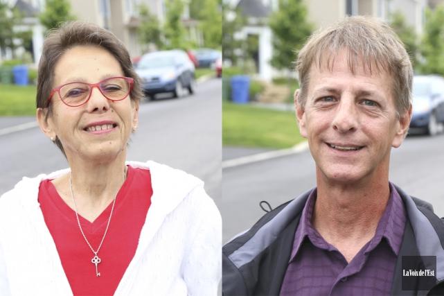 JeanneDucharme et Claude Houde seront respectivement candidats dans... (Janick Marois, La Voix de l'Est)