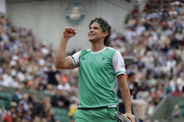 Dominic Thiem (notre photo) a défait Novak Djokovic... (Petr David Josek, Associated Press)