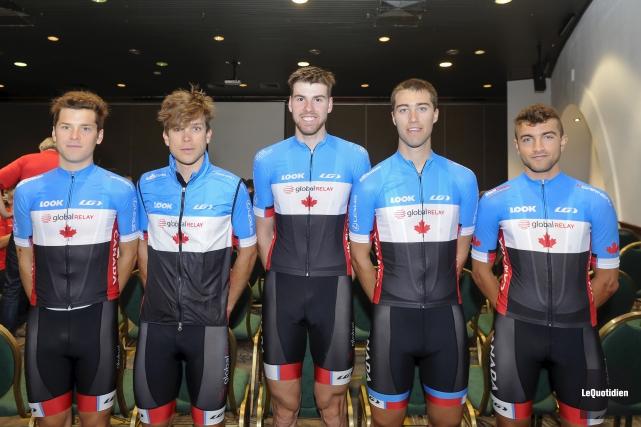 L'équipe canadienne compte cinq solides coureurs en Ben... (Photo Le Quotidien, Gimmy Desbiens)