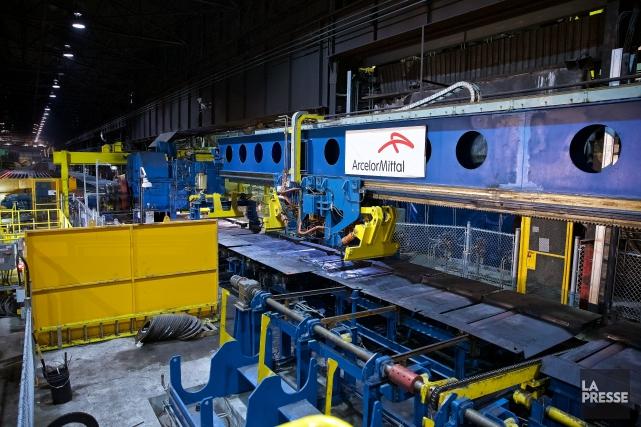 ArcelorMittal a inauguré hier de nouveaux équipements de production à son... (Photo André Pichette, La Presse)