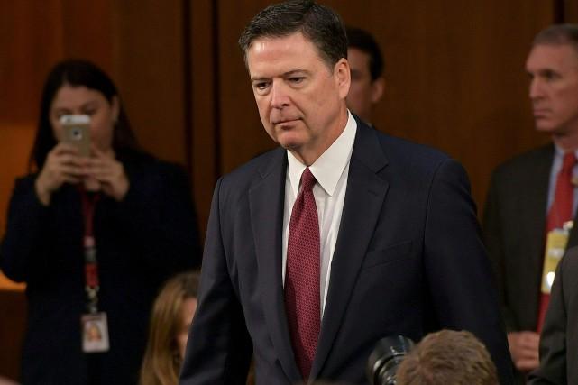 L'ancien directeur du FBI James Comey se présente... (AFP, Mandel NGAN)
