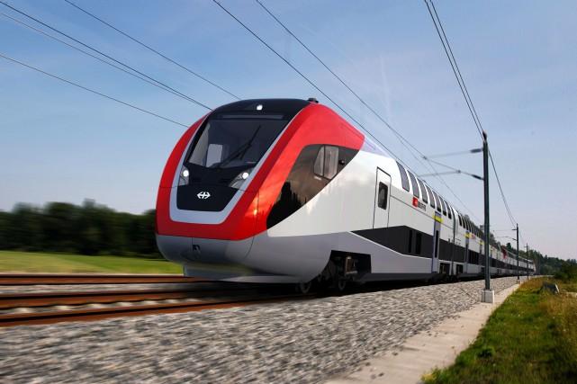 Environ les trois quarts des emplois touchés sont... (PHOTO Swiss Federal Railways/Bombardier - AFP)