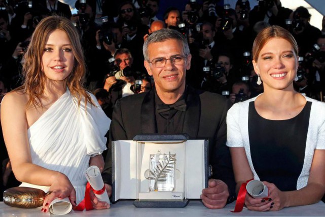 Abdellatif Kechiche (au centre)... (photo Jean-Paul Pelissier, archives reuters)
