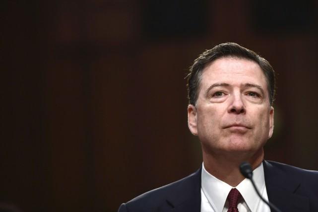 James Comey a entamé jeudi matin son témoignage... (AFP, Brendan Smialowski)